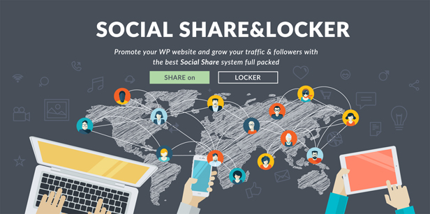 Social Share & Locker Pro WordPress Plugin - 1