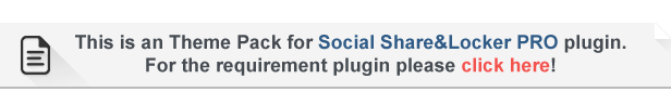Social Share & Locker Pro Theme Pack (W&B) - 1