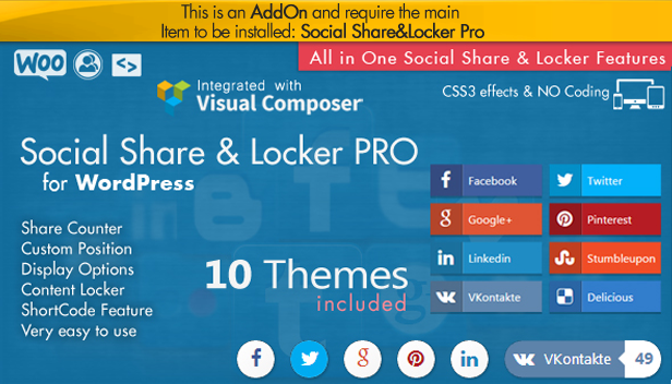 Social Share Point AddOn  - WordPress