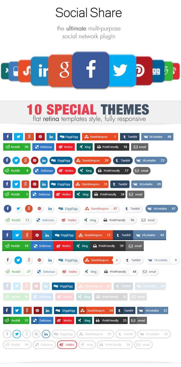 Social Share & Locker Pro WordPress Plugin - 3