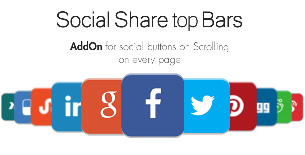 Social Share top Bar AddOn - WordPress - 4