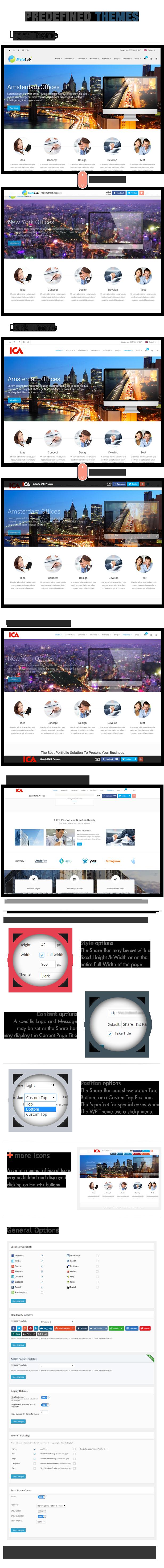 Complemento da barra superior do Social Share - WordPress - 6