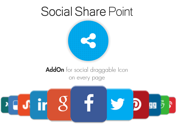 Social Share Point AddOn  - WordPress 4