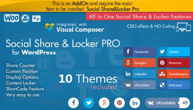 Social Share Point AddOn  - WordPress 5